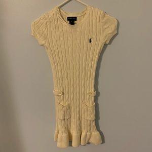 Ralph Lauren girls size medium cream color dress